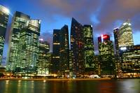 Marina Bay Financial Center Singapore, Evening