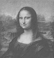 Mona Lisa Cropped black & white