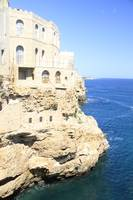 East coast Southern Italy castle rock shore Adriat