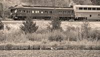 Cyrus K  Holliday Private Rail Car BW Sepia
