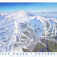 """Falls Creek Resort"" by jamesniehuesmaps"