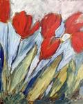 Six Orange Tulips by Jennifer Lommers