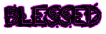 blessed grunge outline purple glow
