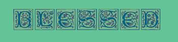 blessed style blocks blue and green