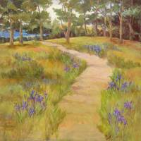 Pebble Beach Sea Forest Art Prints & Posters by Barbara Reding