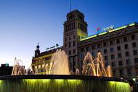 Plaza de Cataluna, Nightfall
