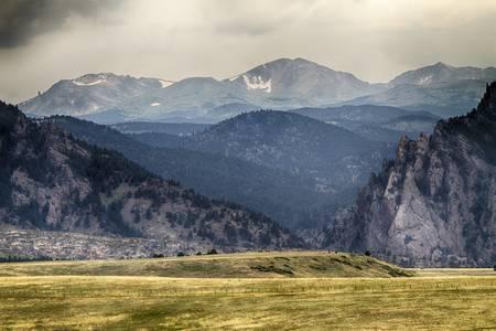 Eldorado Canyon and Continental Divide Above