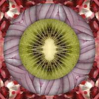Fruit mandala - kiwi