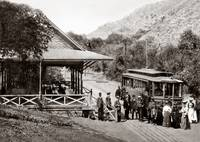 Alum Rock Park, trolley, San Jose c1890