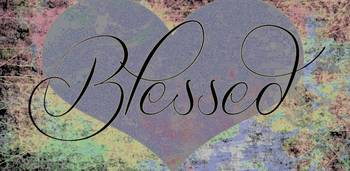 blessed heart color texture