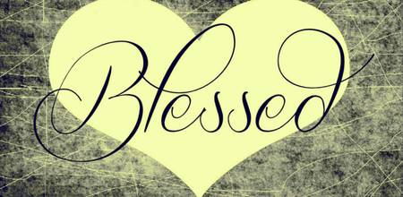 blessed heart yellow black
