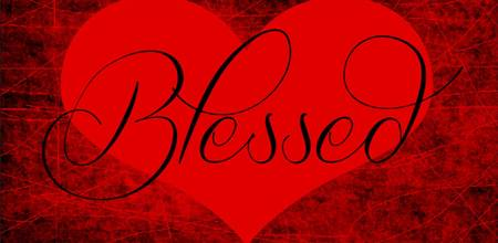 blessed heart red black