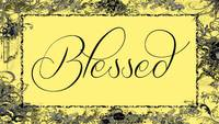 blessed frame yellow silver