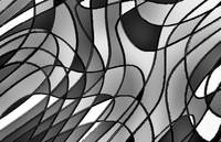 Stained Glass Abstract Decorative B&W