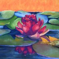 """""""Ruby Lotus"""" by windspiritart"""