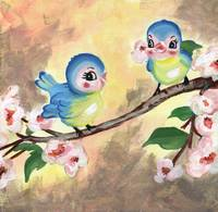 Woodland Friends Bluebirds
