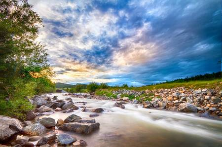 South Boulder Creek Sunset View Rollinsville Color