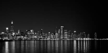 Chicago Skyline (Monochrome)