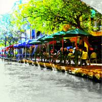 """San Antonio Riverwalk, An Original - Limited Editi"" by BonnieFeasterChapa"