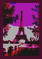 Deccrative Eiffel Tower Paris France Seine River e