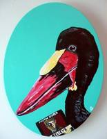 Saddle-billed Stork with Latest Justin Bieber Alb