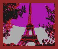Eiffel Tower Paris France Close-up Enhanced