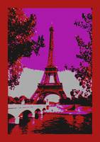 Eiffel Tower Paris France Seine River Decorative A