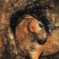 """Spirit of Ancestors Horse by Bihrle"" by AmyLynBihrle"