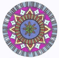 Abstract Floral Center Mandala