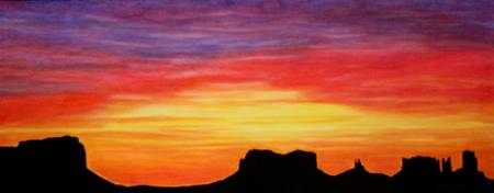 Glowing Southwest Sunrise by Brenda Doberstein