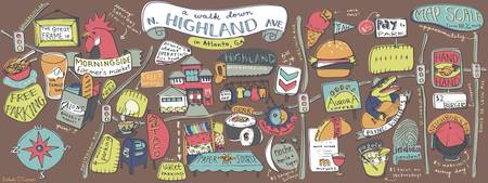 North Highland Ave by Bekah O'Connor