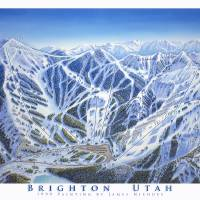 """Brighton Resort, Utah"" by jamesniehuesmaps"