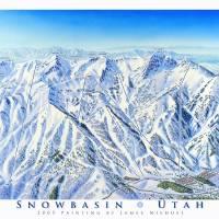 """Snowbasin Resort Utah"" by jamesniehuesmaps"