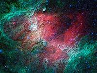 Abstract Decorative Eagle Nebula Infrared View
