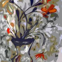"""""""Abstract Floral Still Life by Ginette"""" by GinetteCallaway"""