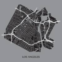 Los Angeles - Black on Grey with Title