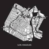Los Angeles - White on Black with Title