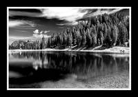 Alpine Lake B&W