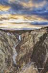 Grand Canyon of Yellowstone Evening by Alan Sachanowski