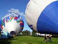 The Re/Max and SaskTel Balloons Getting Ready to L
