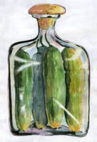 Pickle Jar White