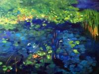 TODAY'S PAINTING - Lilly Pond