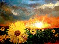 TODAY'S PAINTING - SUNFLOWERS
