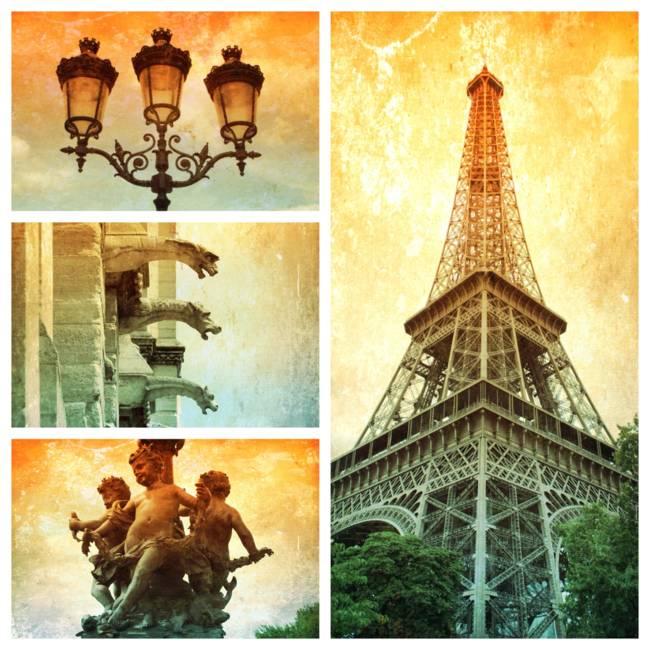 Textures of Paris Collage