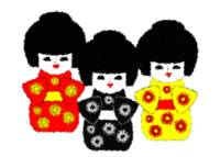 3 Japanese Dolls_Painting