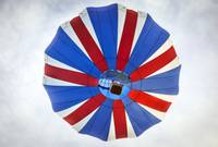 Hot Air Balloon with British Flag Colors