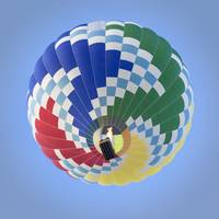 Hot Air Balloon with Geometric Design