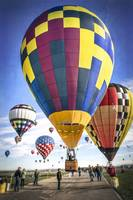 Hot Air Balloons Land Together