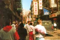 China Town in New York City_Painting