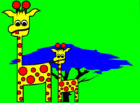 Giraffes love Acacia Leaves 2010 FIFA World Cup So